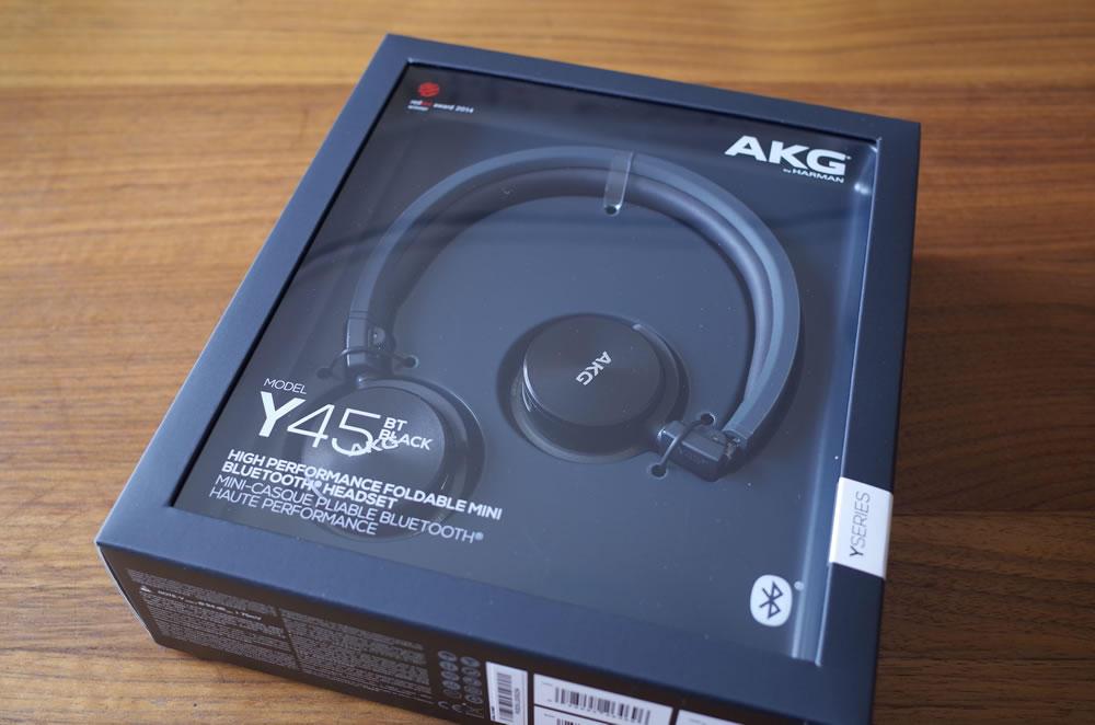 AKG「Y45BT」のパッケージ