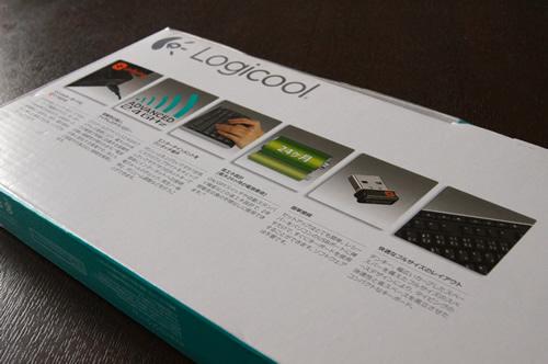 Logicool Wireless Keyboard K270のパッケージの裏側
