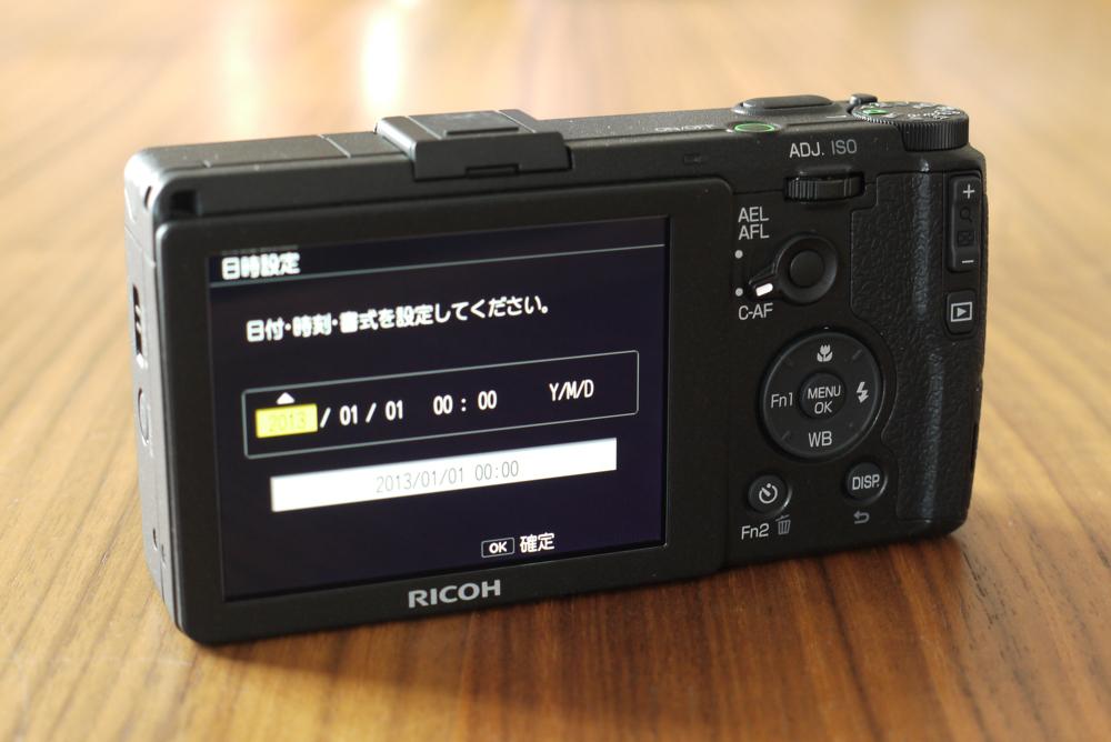 RICOH「GR」の操作ボタン