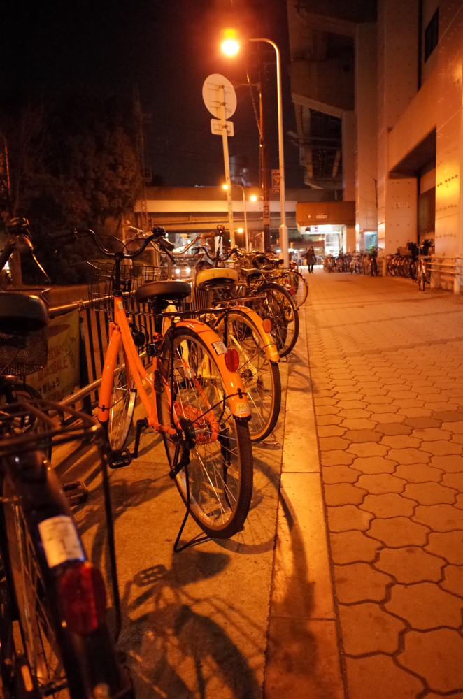 RICOH「GR」で撮った自転車置き場