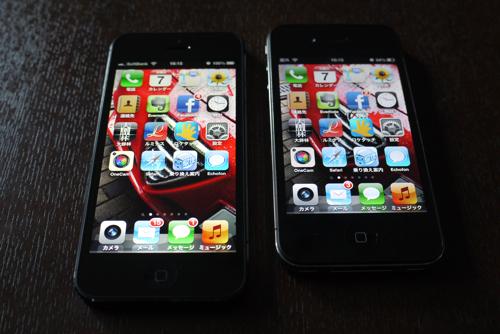iPhone5とiPhone4