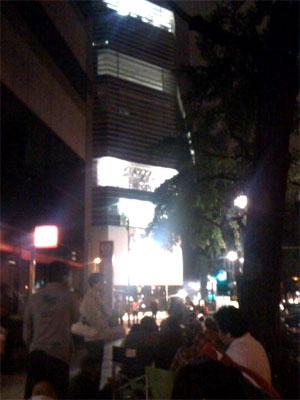 夜のApple Store 心斎橋