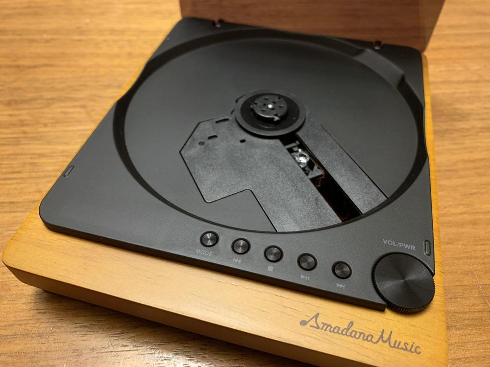 Amadana Music CD プレーヤー / C.C.C.D.P.(シーシーシーディーピー)フタを開けた状態