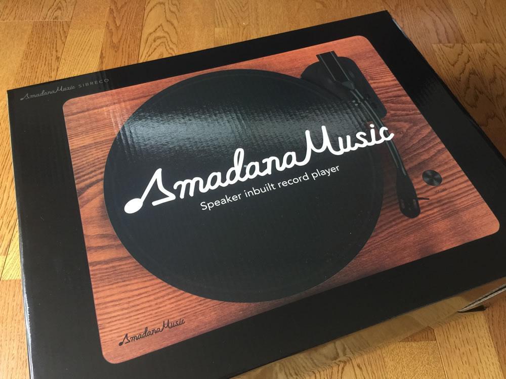 Amadana Music スピーカー内蔵レコードプレーヤー「SIBRECO」の箱