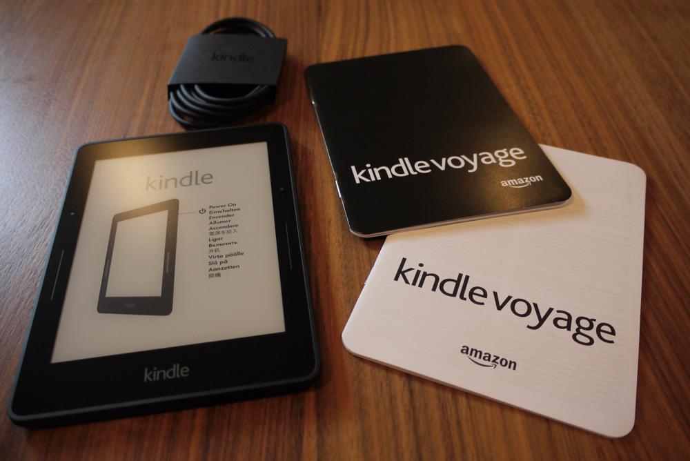 「Kindle Voyage」の同梱物