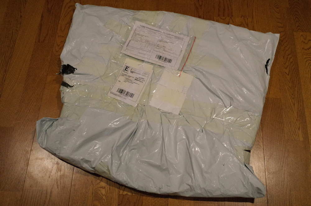 NEEWER「折り畳み式 リバーシブル クロマキー 背景 グリーン/ブルー」の梱包