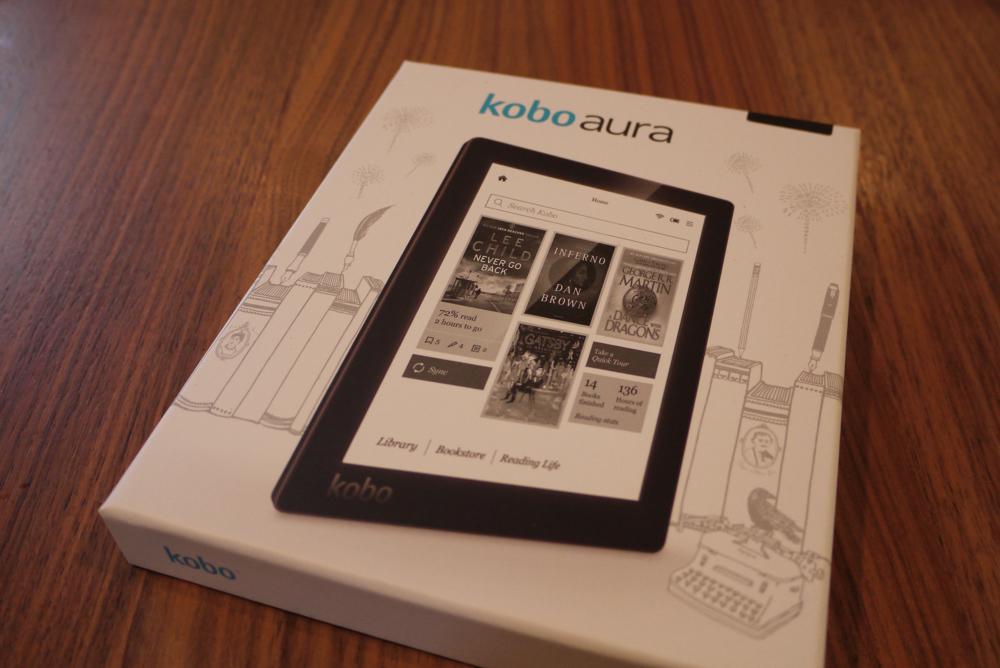 楽天「kobo aura」の箱