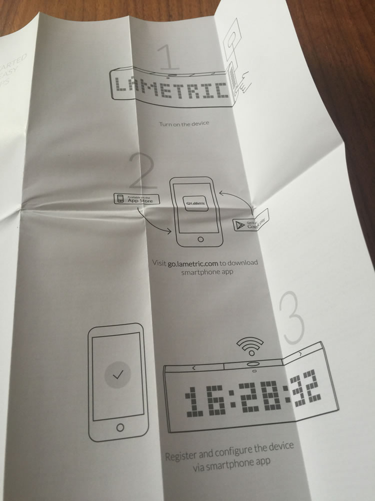 「LaMetric - Customizable Smart Ticker for Life and Business」の取扱説明書