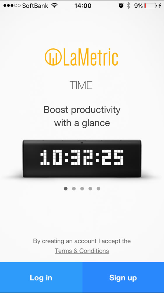 「LaMetric - Customizable Smart Ticker for Life and Business」のスマホアプリ