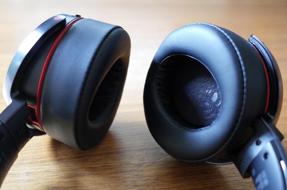 ワイヤレスステレオヘッドセット SONY「MDR-XB950BT」のイヤーパッド