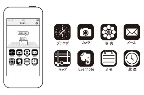 専用無料アプリ「Rolto」