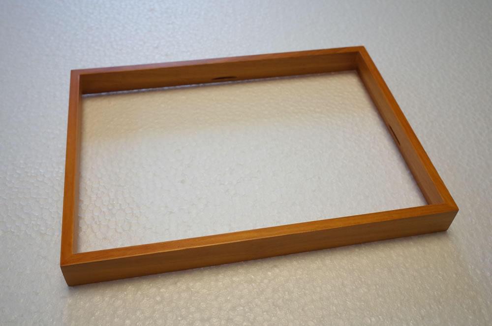 木製ラバーウッドの枠