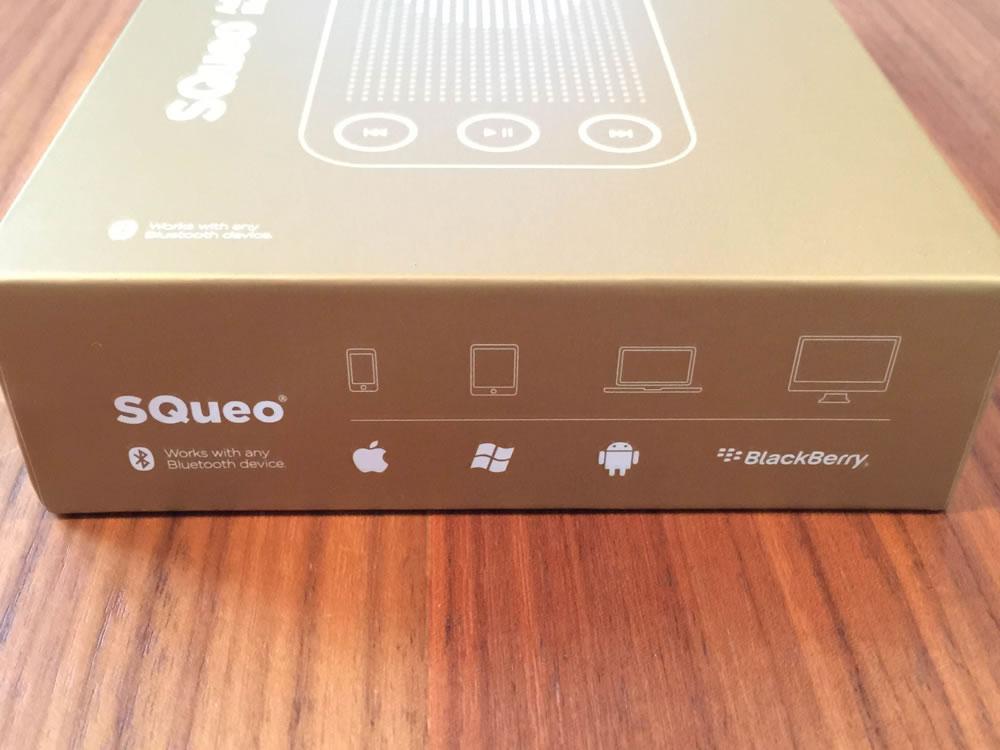 「SQueo : Advanced Waterproof Bluetooth Speaker」はスマホ、タブレット、パソコン、Apple、Windows、Android、BlackBerry、Bluetoothで何にでもつなげることができる