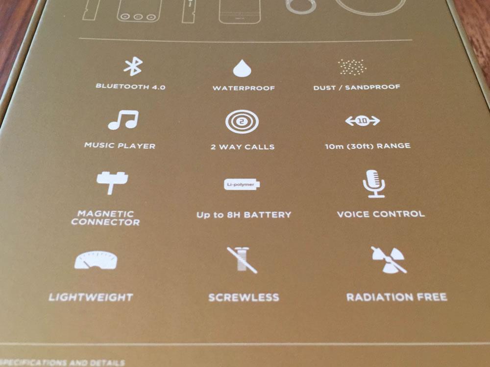 「SQueo : Advanced Waterproof Bluetooth Speaker」の特徴