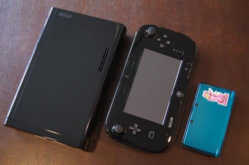 任天堂「Wii U」「Wii U GamePad」「3DS」大きさ比較